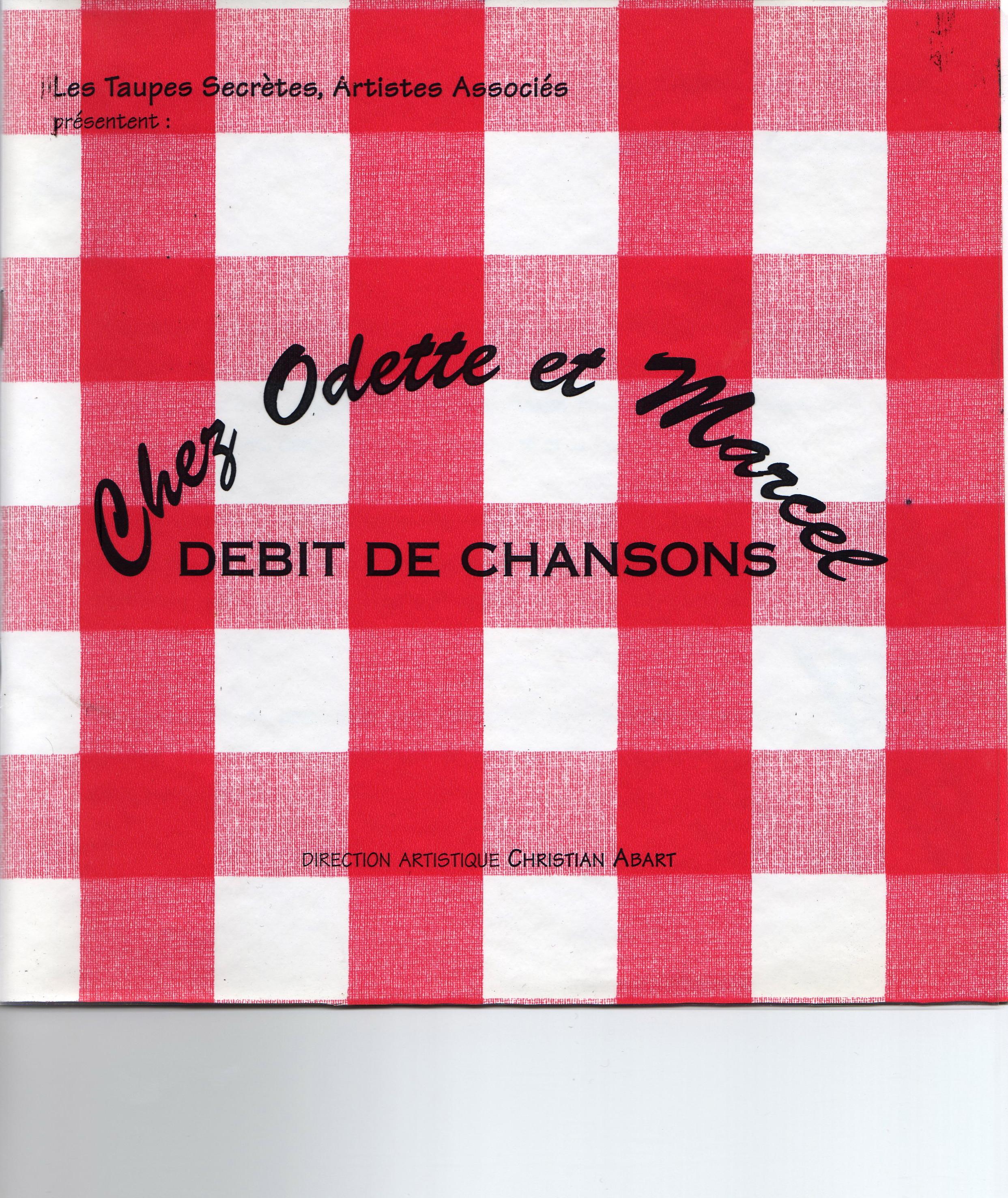 flyer Chez Odette et Marcel
